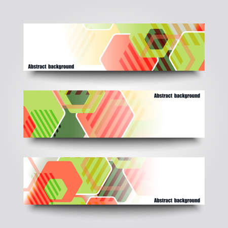 lacerated: Set of banner templates with abstract background. Illustration