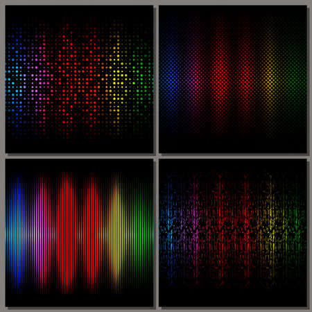 Set of four abstract backgrounds. Vector