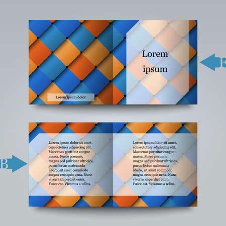 sampler: Modelo del folleto con el fondo abstracto
