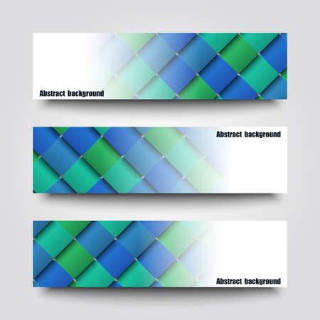 sampler: Conjunto de plantillas de banner con el fondo abstracto. Vectores