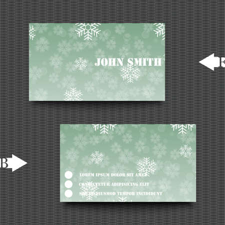 hoarfrost: Business card template with abstract background Illustration