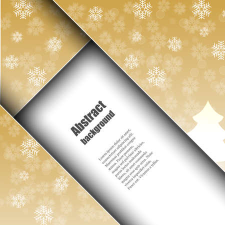 hoarfrost: Brochure template with abstract background. Illustration