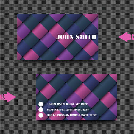 sampler: Business card template abstract background