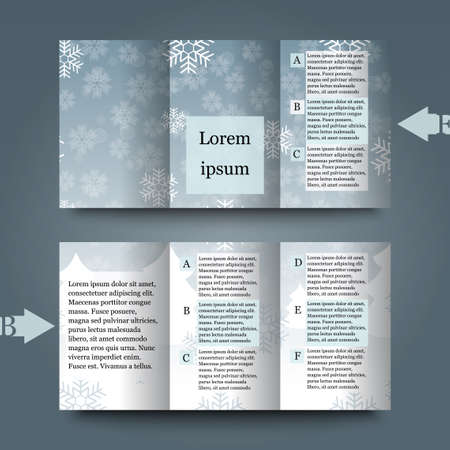 hoarfrost: Brochure template with winter background Illustration