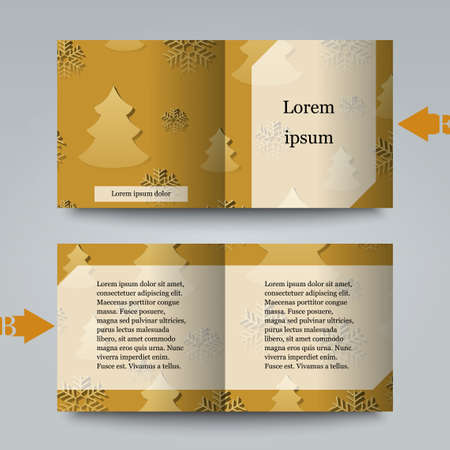 rime frost: Brochure template witer winter background Illustration