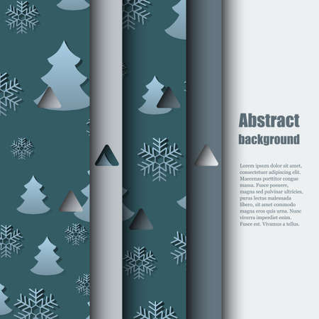 hoarfrost: Brochure template witet winter background