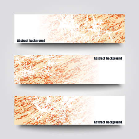 Set of banner templates with winter background.