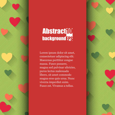 Brochure template with love background. Vector