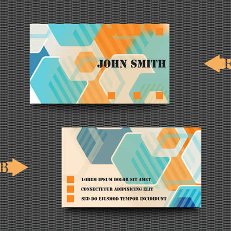 lacerated: Business card template with abstract background Illustration