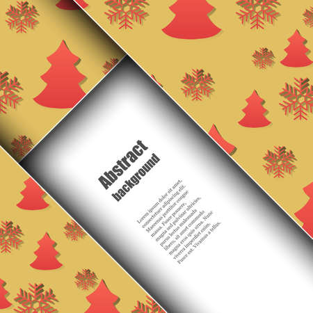 rime frost: Brochure template with winter background Illustration