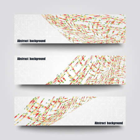 Set of banner templates with abstract background. Vector