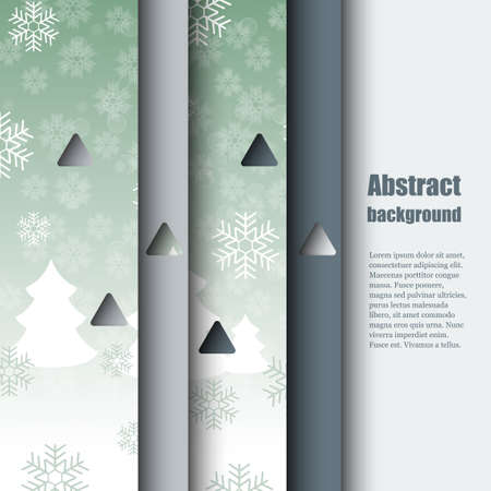 흰 서리: Brochure template with winter background.