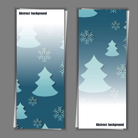 hoarfrost: Set of banner templates with winter background.