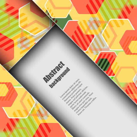 lacerated: Brochure template with abstract background Illustration