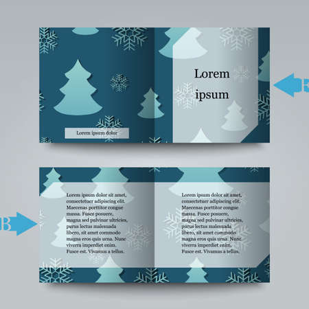 rime frost: Brochure template with winter background.