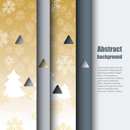 rime frost: Brochure template with abstract background Illustration