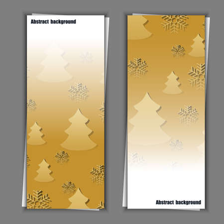rime frost: Set of banner templates with abstract background. Illustration