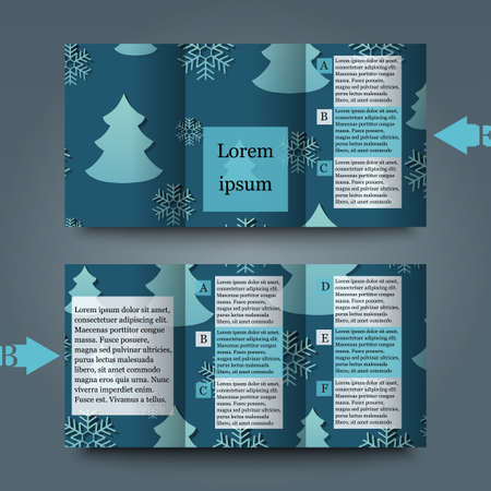 hoarfrost: Brochure template with abstract background Illustration