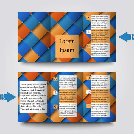 tile flooring: Brochure template with abstract background. Illustration