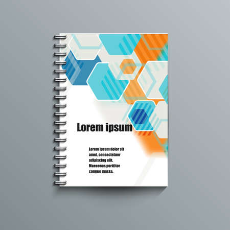 lacerated: Notepad template with abstract background