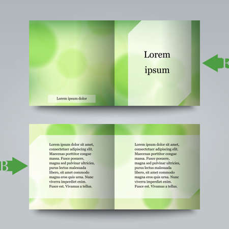 Brochure template with abstract background Çizim