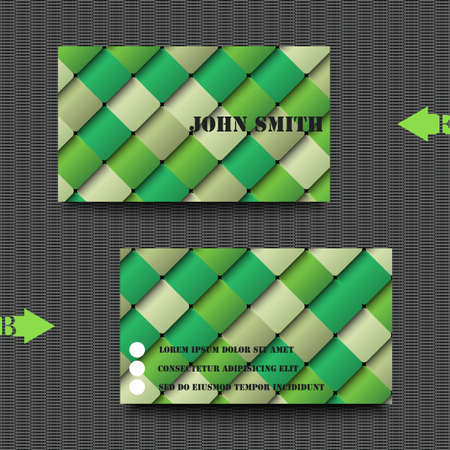 tile flooring: Business card template with abstract background Illustration