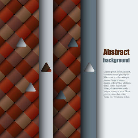 sampler: Brochure template with abstract background. Illustration