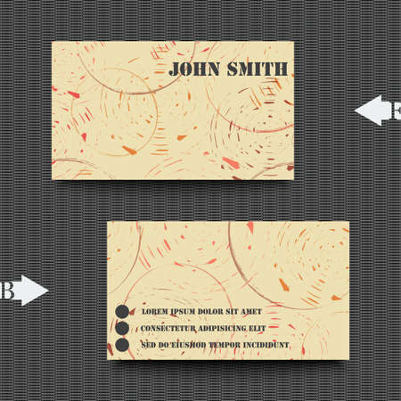 cross section of tree: Business card template with abstract background. Illustration