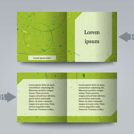 cut logs: Brochure template with abstract background. Illustration