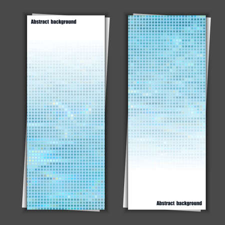 waterpool: Set of banner templates with abstract background. Illustration