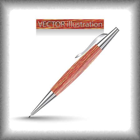 clericalist: Vector corporate pen design. Illustration
