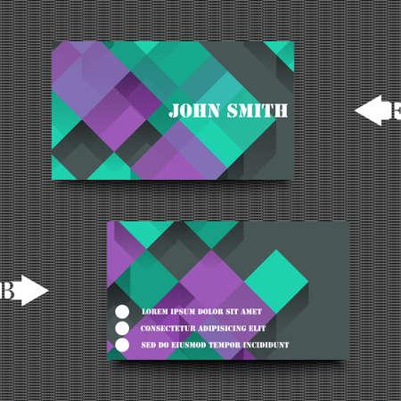 plantilla para tarjetas: Plantilla de tarjeta de visita con el fondo abstracto.