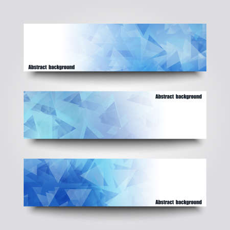 Set of banner templates with abstract background. Çizim