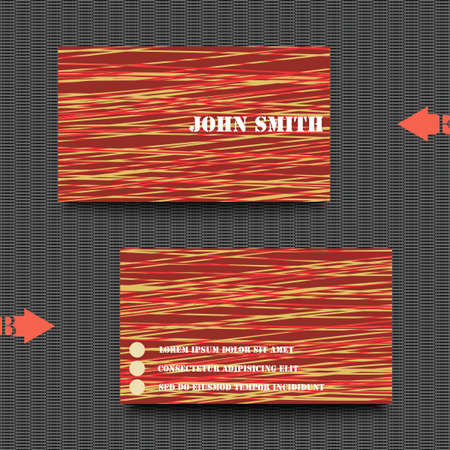 color swatch book: Business card template with abstract background. Illustration