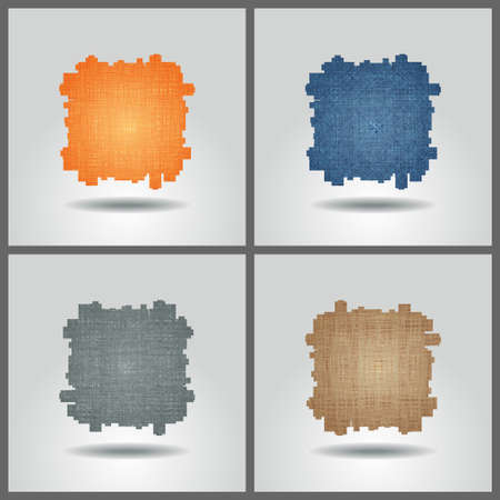multitude: Set of banner templates with abstract background. Illustration