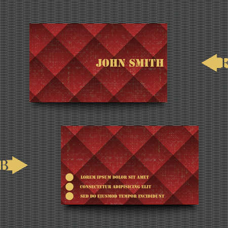 visitekaartje: Business card template with abstract background. Stock Illustratie
