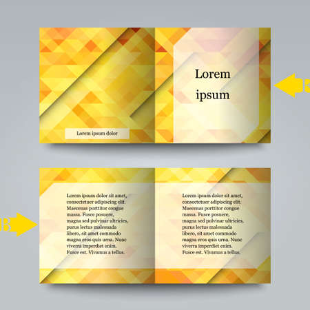 bright color: Brochure template with abstract background. Illustration