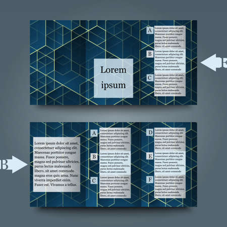 blue grey: Brochure template with abstract background. Illustration