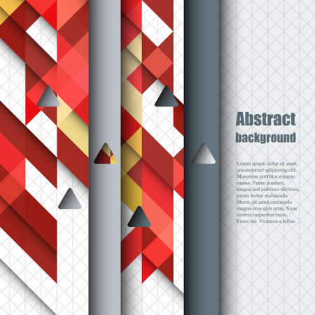 red shape: Brochure template with abstract background. Illustration
