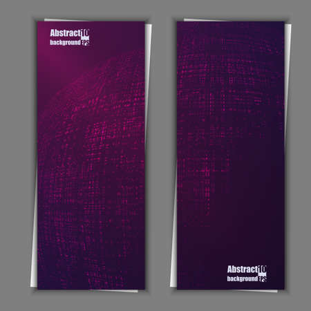 environment geography: Set of banner templates with abstract background. Vector illustration