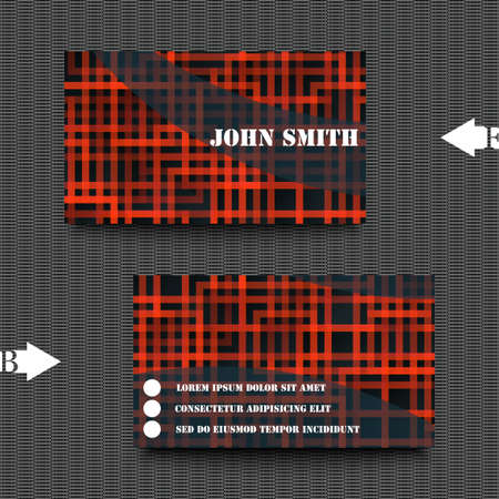 businnes: Business card template with abstract background Illustration