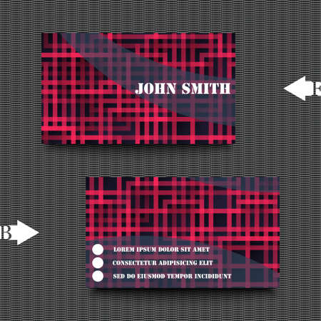 Business card template with abstract background Illustration