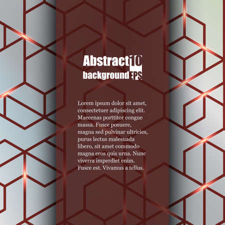 impervious: Brochure template with abstract background. Illustration