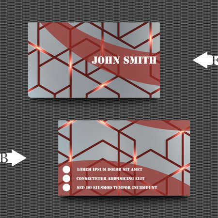 impervious: Business card template with abstract background. Illustration