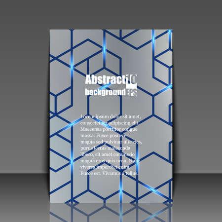 gray netting: Template flyer. Eps10 Vector illustration Illustration