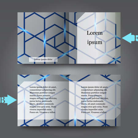 gray netting: Brochure template with abstract background. Eps10 Vector illustration