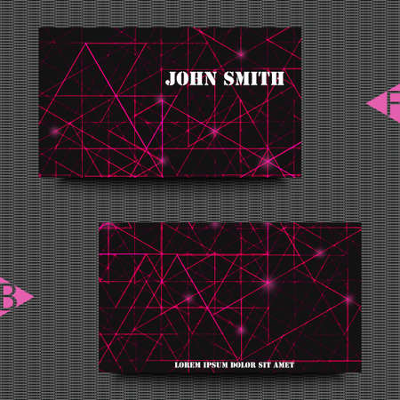 impervious: Business card template with abstract background. Eps10 Vector illustration