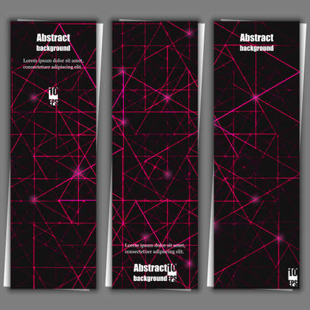impervious: Set of banner templates with abstract background. Eps10 Vector illustration