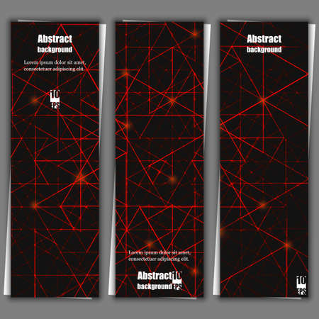impervious: Set of banner templates with abstract background.  Vector illustration
