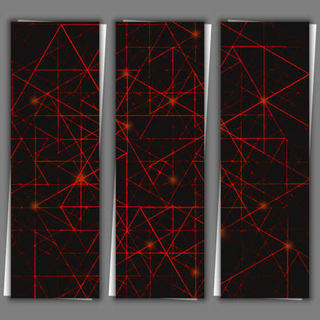 impervious: Set of banner templates with abstract background. Stock Photo